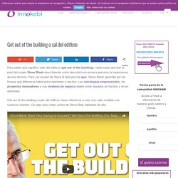 Get out of the building o sal del edificio - Innokabi