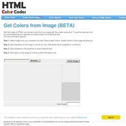 Get Colors from Image - for browser