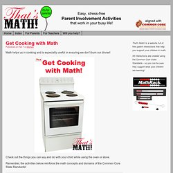 Get Cooking with Math