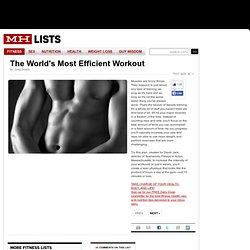 Worlds Most Efficient Workout: Mens Health.com