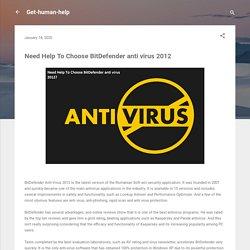 Need Help To Choose BitDefender anti virus 2012?Get-human-help