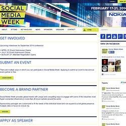 Social Media Week / Get Involved