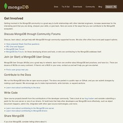 Get Involved - MongoDB