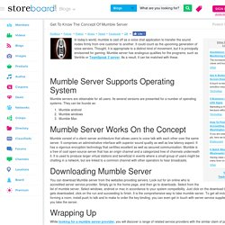 Get To Know The Concept Of Mumble Server