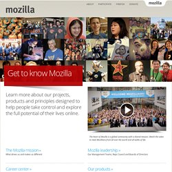 Get to know Mozilla