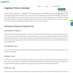 Get Loan for Capital First Limited