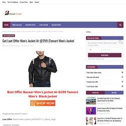 Get Loot Offer Men's Jacket At @299
