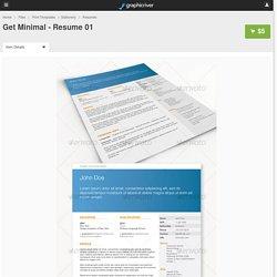 Get Minimal - Resume 01