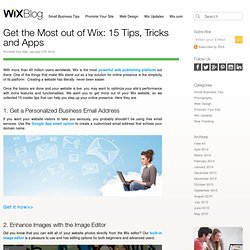Get the Most out of Wix: 15 Tips, Tricks and Apps