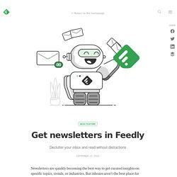 Get newsletters in Feedly