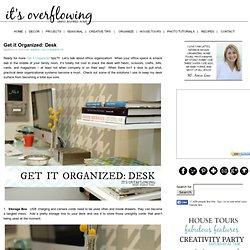 Get it Organized: Desk