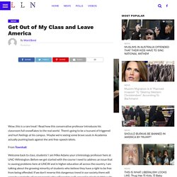 Get Out of My Class and Leave America -