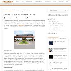 Get Rental Property in DHA Lahore