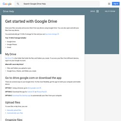 Get started with Google Drive - Drive Help