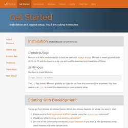 Get Started - Mimosa