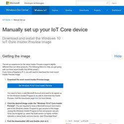 Get Started - Windows IoT