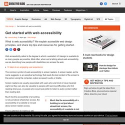 Get started with web accessibility