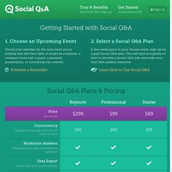Get Started with Social Q&A Today - Social Q&A