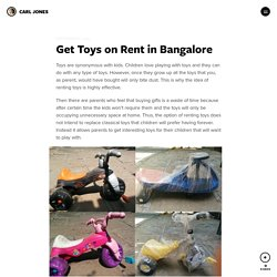 Get Toys on Rent in Bangalore