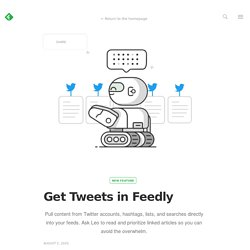 Get Tweets in Feedly