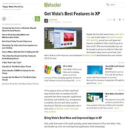 How to get Vista's best features in XP
