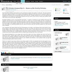 Get Websites Designed By Us – Masters of the World of Websites