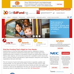 GetEdFunding - Free grant finding resources for educators and educational institutions - GetEdFunding