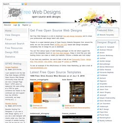 GetFreeWebDesigns.com - Download Free HTML and CSS Web Templates - Get Free Web Designs