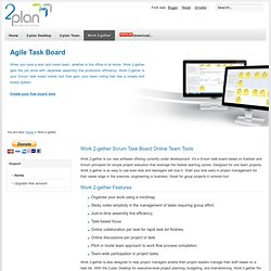Work 2-gether – Scrum Task Board Online Team Tools