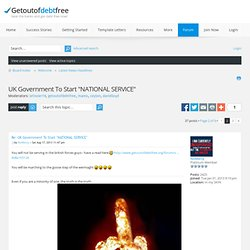 "UK Government To Start ""NATIONAL SERVICE"""
