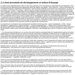 Zone proximale de développement et notion d'étayage - THESE