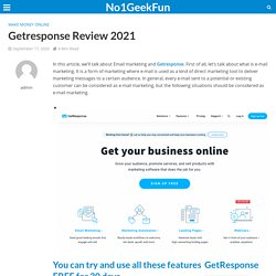 Email Marketing: Getresponse Review 2021