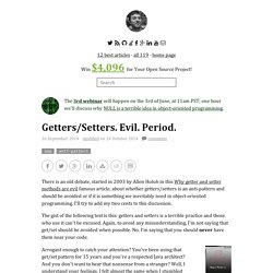 Getters/Setters. Evil. Period. - Yegor Bugayenko