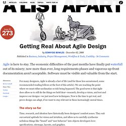 Getting Real About Agile Design