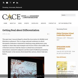 Getting Real about Differentiation – CACE