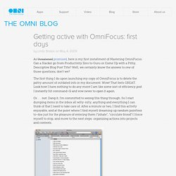 Getting active with OmniFocus: first days - Blog