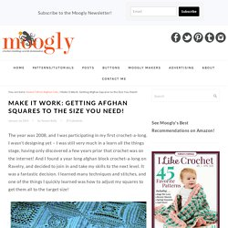 Make It Work: Getting Afghan Squares to the Size You Need! - moogly