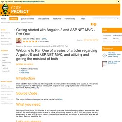 Getting started with AngularJS and ASP.NET MVC - Part One