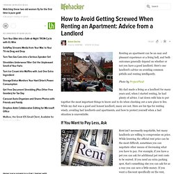 How to Avoid Getting Screwed When Renting an Apartment: Advice from a Landlord