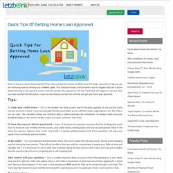 Quick tips of getting home loan approved at Letzbank