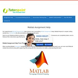 Getting Matlab assignment done by Matlab Homework Help Experts