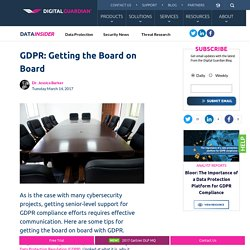 GDPR: Getting the Board on Board