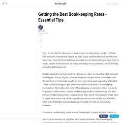 Getting the Best Bookkeeping Rates - Essential Tips