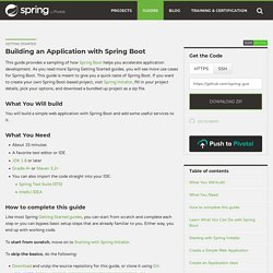 Getting Started · Building an Application with Spring Boot