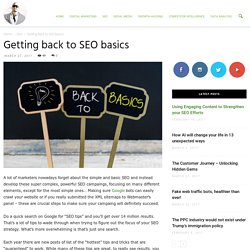 Getting back to SEO basics - Ade Camilleri Marketing News