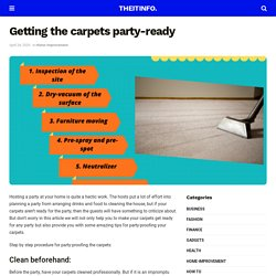 Getting the carpets party-ready - TheItInfo