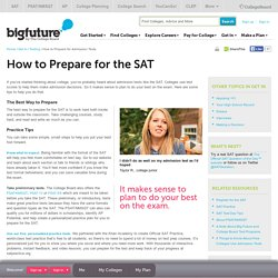 Getting into College - How to Prepare for Admission Tests