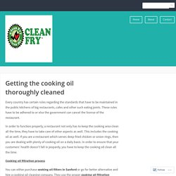 Getting the cooking oil thoroughly cleaned – Clean Fry, Clean Fry USA