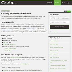 Getting Started · Creating Asynchronous Methods