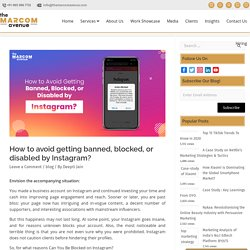 Avoid getting banned, blocked or disabled by instagram